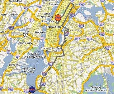 new york marathon course map new york map