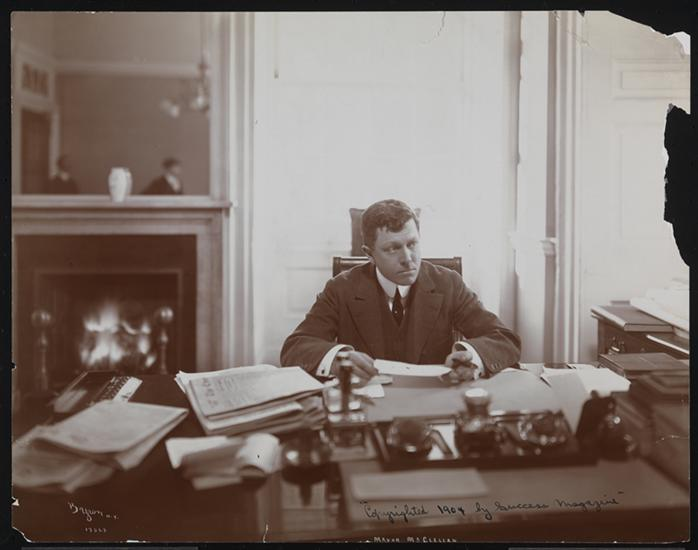 Mayor McClellan in his office, 1904 (Courtesy Museum of the City of New York)