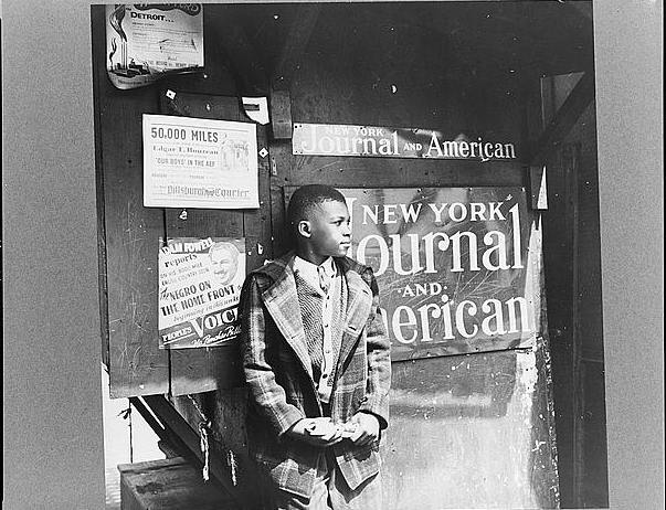 fb89b553 Finally, here's a one more photograph from 1943 of a modern newsie, decades  after the strike, by another great photographer Gordon Parks (yes, the  director ...