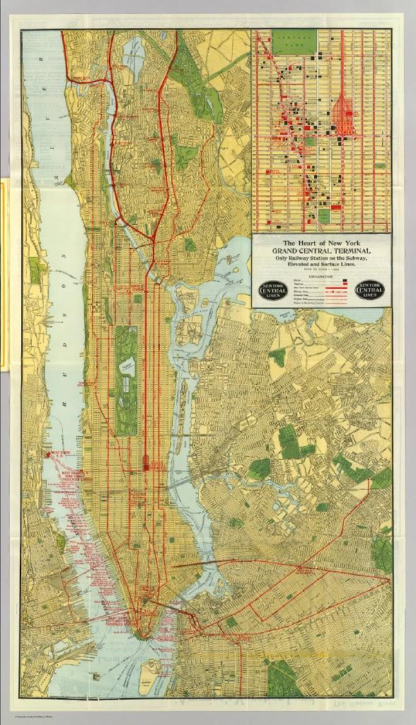 Old Ny Subway Map.The World Of Transportation 1918 Via Grand Central The Bowery