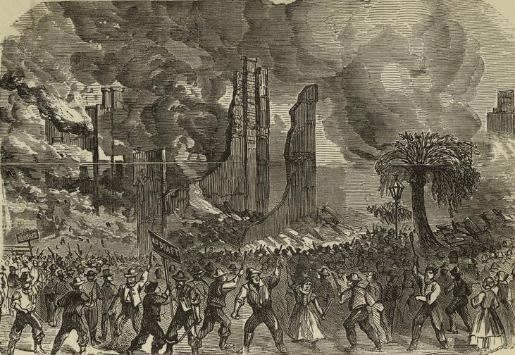 Image result for civil war draft riots erupted in new york city