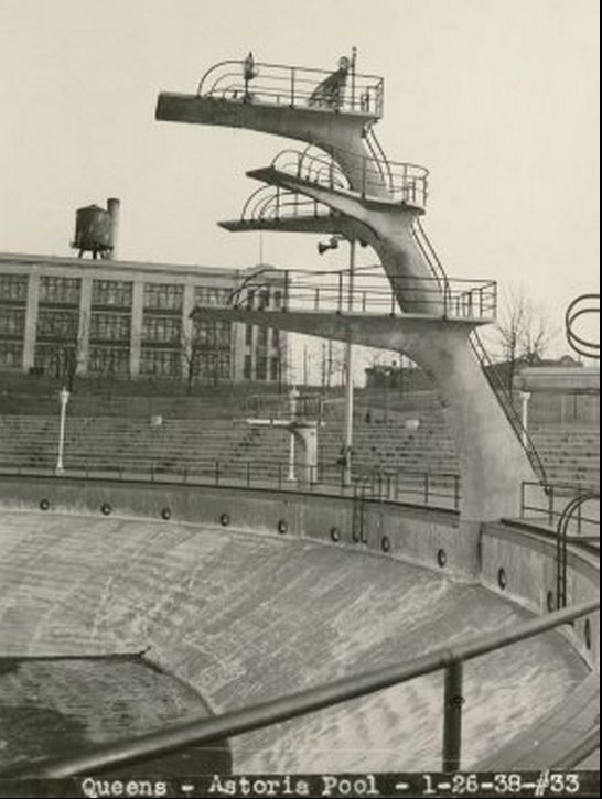 Nostalgia For Astoria Pool An Early Robert Moses Project With A High Diving Olympic Sized