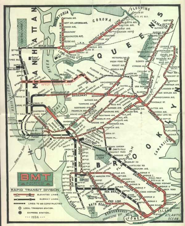 New York Subway Map Brooklyn.The Dual Contracts The New York City Subway System Gets A Serious