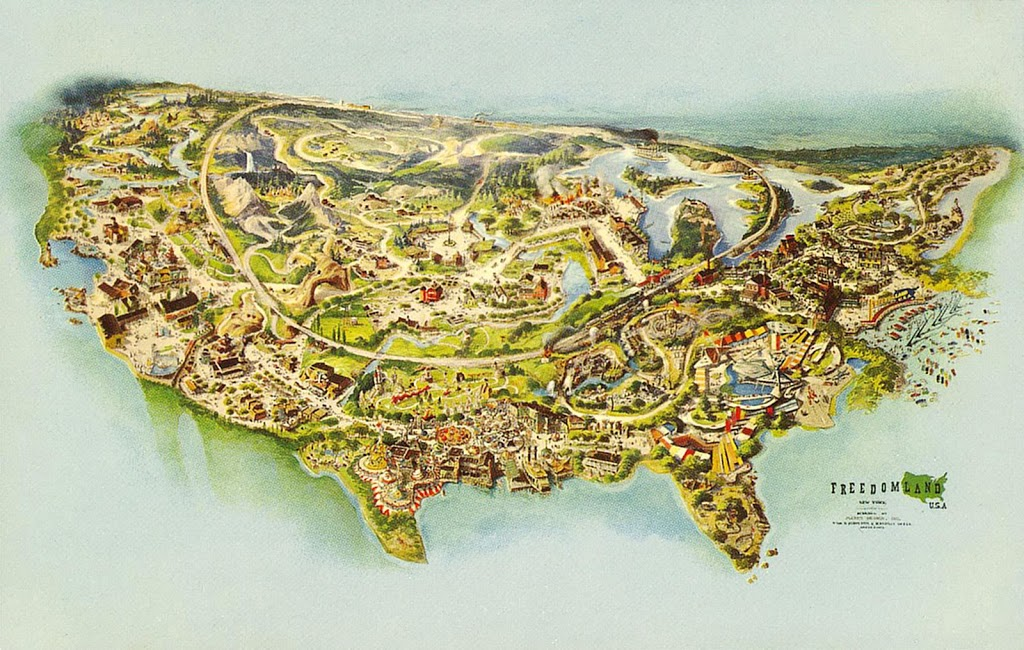 The Legend Of Freedomland USA Theme Park Memories From The Kids - Map of us amusement parks