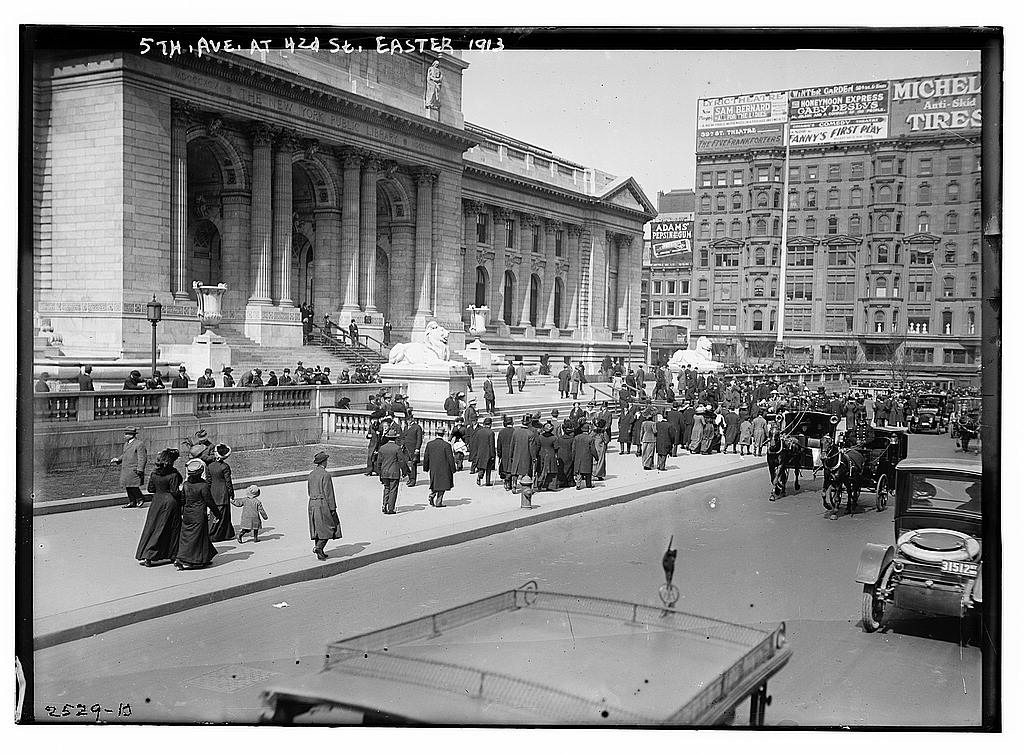 Easter fashion parade 1913: Images of the annual stroll, now