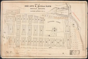 Map of 1000 Lots and 30 Villa Plots of the Mickle Estate, at Byaside, Queens County, Long Island.