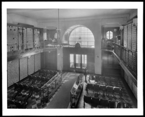 8 Delancey Street. Tree-Mark shoe store, interior.