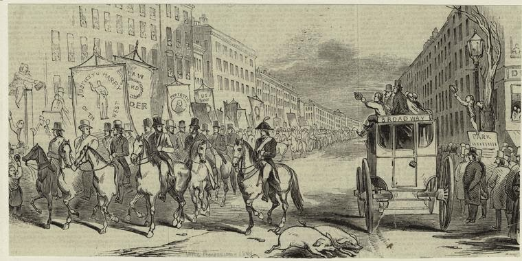 On April 8, 1834, men fought with knives and clubs, destroying ballots and  virtually shutting down the entire process. One man was killed, twenty  others ...