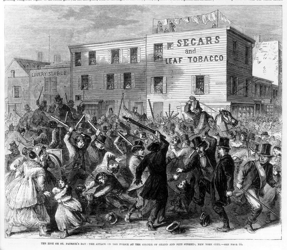 The 1867 St Patrick's Day riot: No peace in the Lower East Side - The  Bowery Boys: New York City History