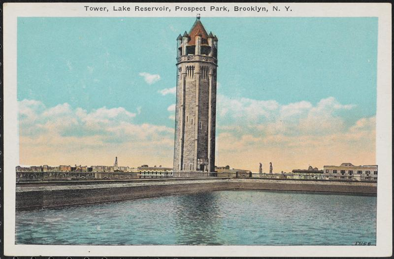Unsurprisingly, the reservoir was a bit of a tourist attraction as evidenced by this postcard. (Courtesy the Museum of the City of New York)