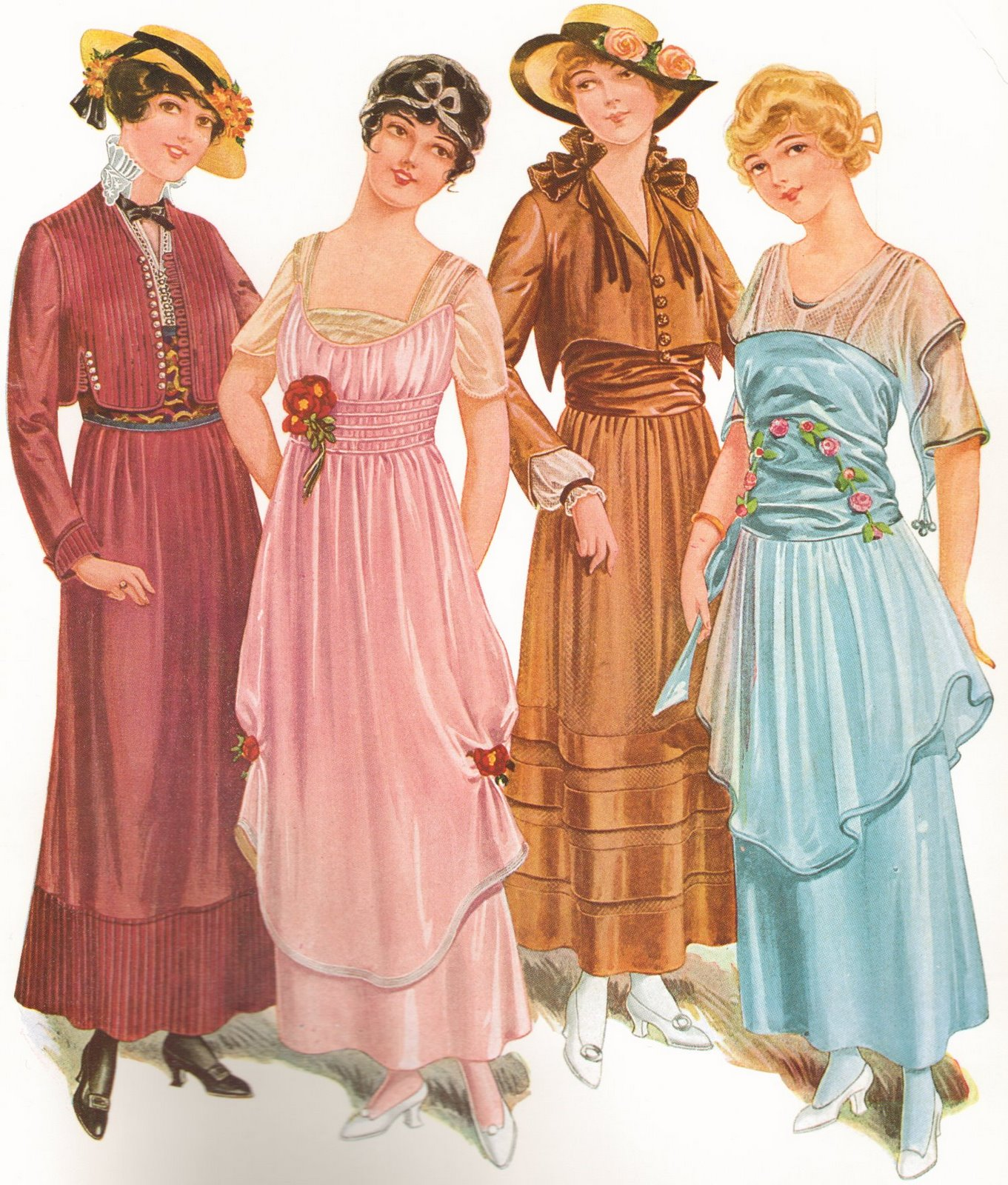 from a 1915 Gimbels fashion magazine, courtesy  the blog Historically Romantic