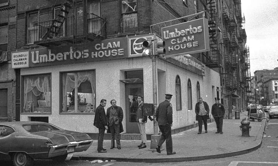 Umberto's Clam House, site of the infamous mob hit on gangster Joe Gallo in 1972 (Courtesy New York Daily News)