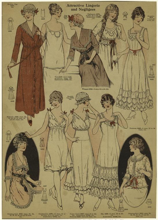 Lingerie And Negligees, 1915. Courtesy New York Public LIbrary