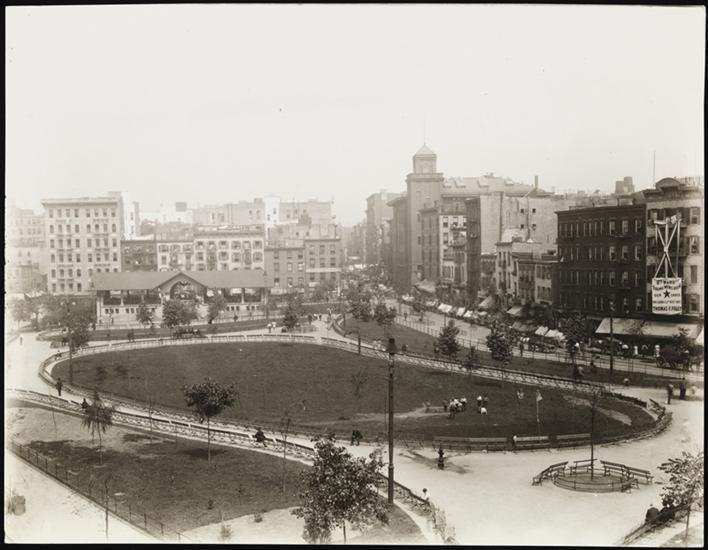 Mulberry Bend Park in 1900, replacing a set of the worst tenements in this area of Five Points