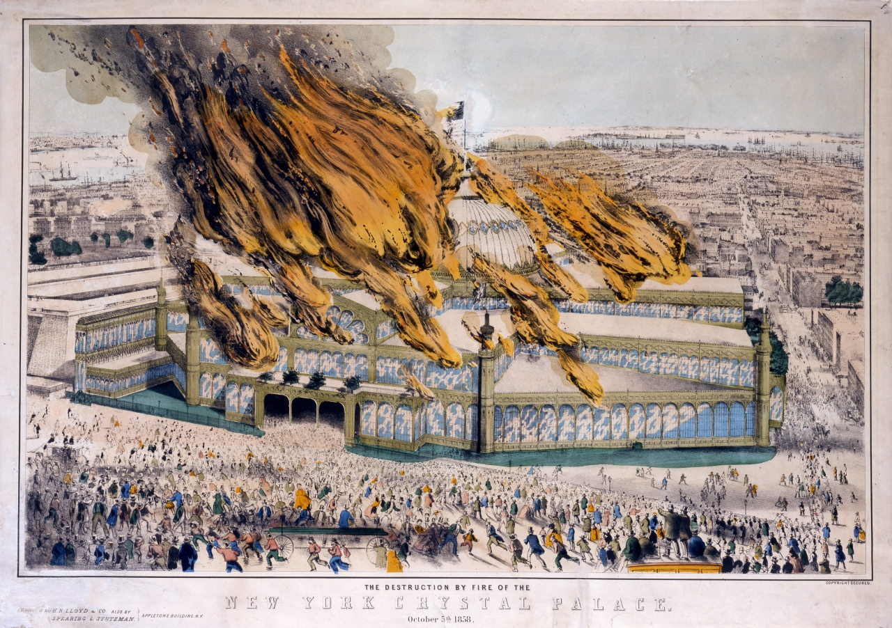 Another view of the blaze, in perspective to the rest of New York to the south. Couirtesy New-York Historical Society