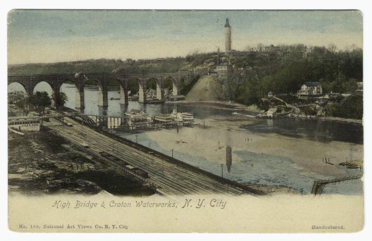 High Bridge & Croton Waterworks (Courtesy New York Public Library)