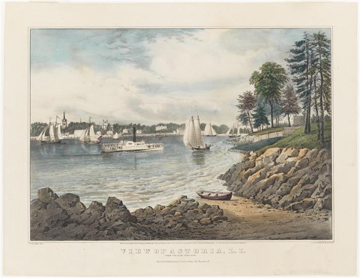A view of Astoria in 1862, courtesy Currier and Ives (and Fanny Palmer)!