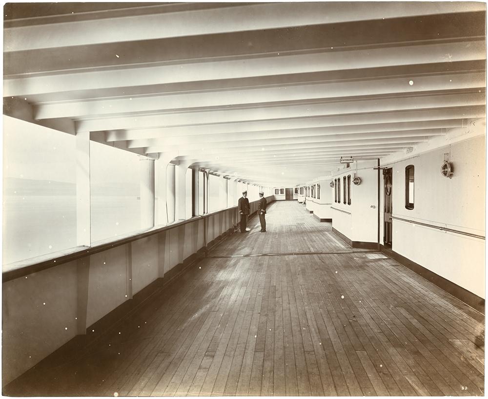 First class promenade deck