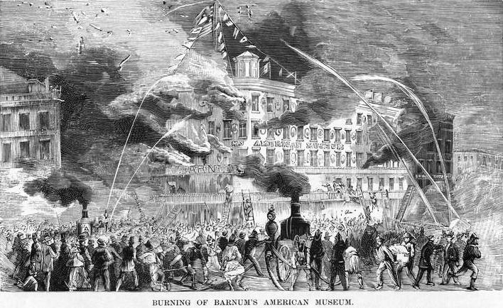 barnum's museum burns 1865