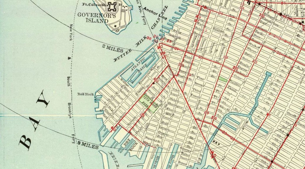 from an 1897 map of Brooklyn