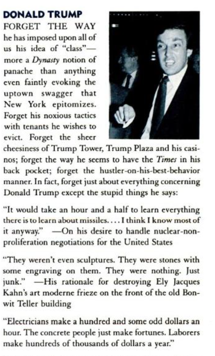 People Magazine Trump Quote 1998: SPY VS TRUMP: The Best Donald Trump Moments From Spy