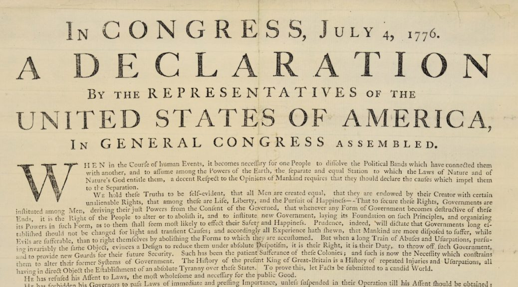 George Washington's copy of the Declaration of Independence - The ...