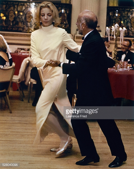 Mrs. Jason Robards Jr. dancing with Jerome Robbins at Truman Capote's party *** Local Caption *** Lauren Bacall;Jerome Robbins;