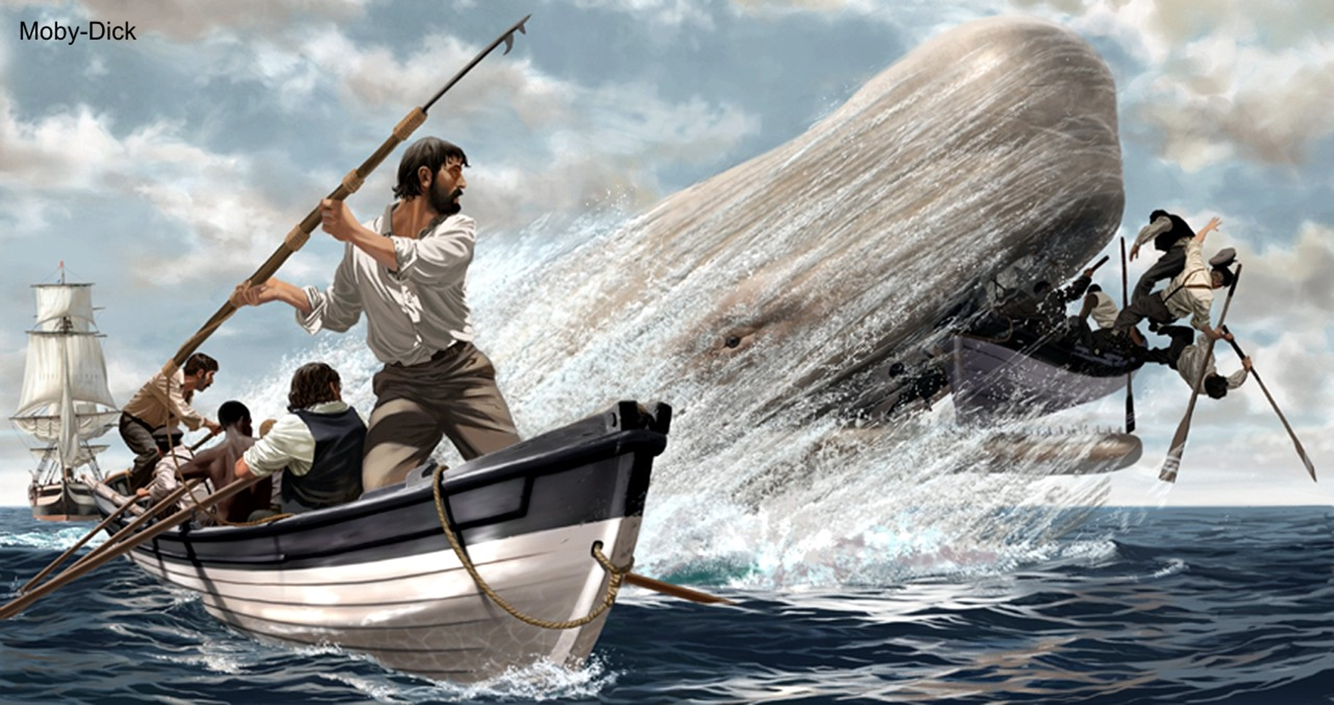 Are moby dick location herman mellville