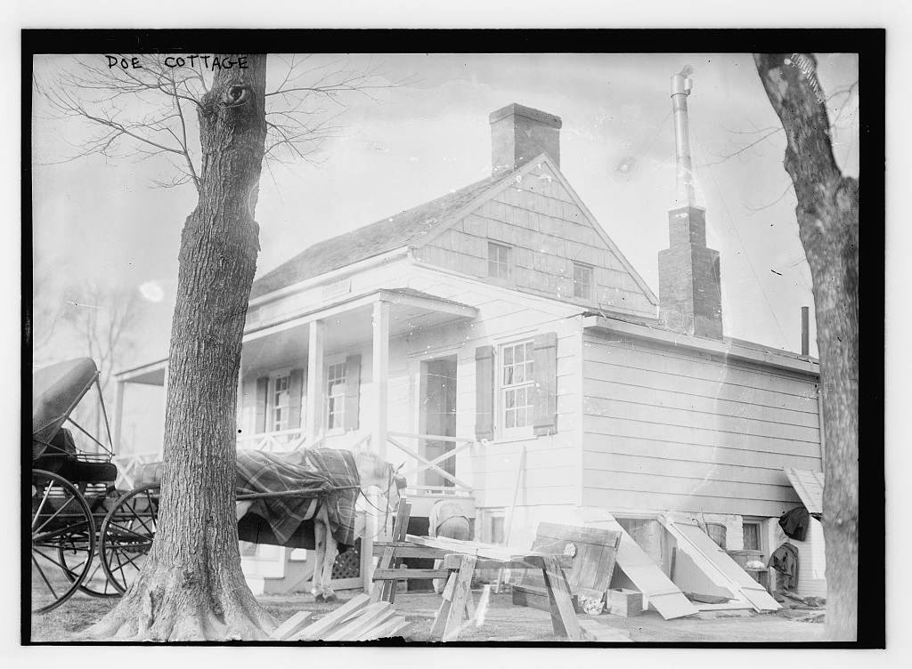 Poe's home in the Bronx, as it appeared in the 1910s. Courtesy Library of Congress