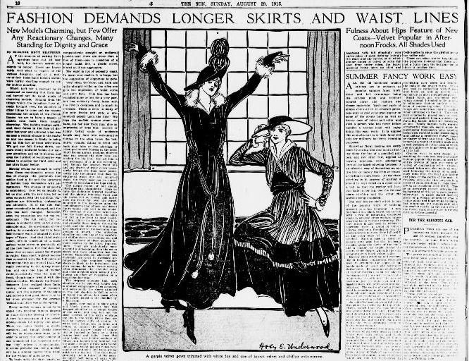 New York Sun, August 1915