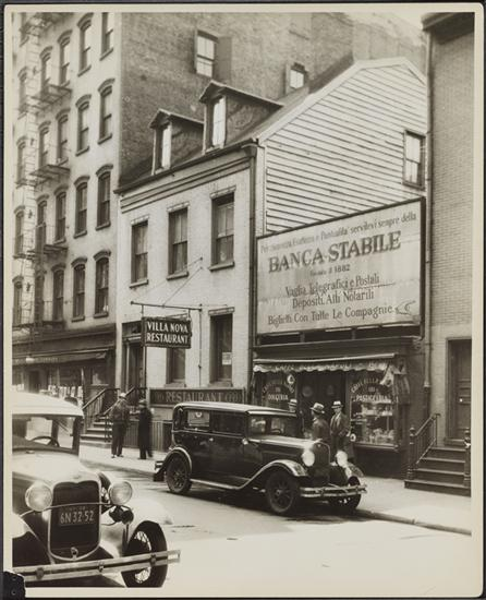 149 Mulberry Street, near Grand Street. 1932. Banco Stabile which is off-picture to the right is the home of the Italian American Museum today. (Courtesy Museum of the City of New York)