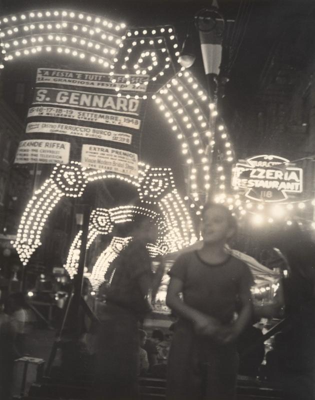 San Gennaro Festival, 1948, taken by Sid Grossman