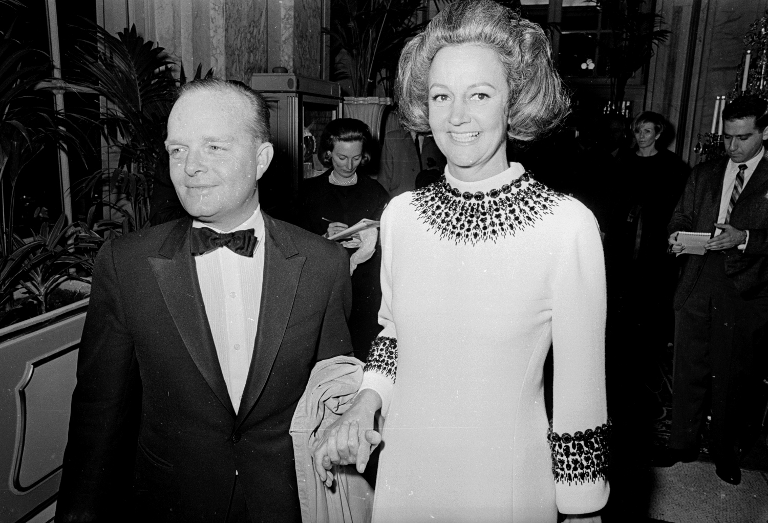 Truman Capote and Katherine Graham at the Black and White Ball, 1966