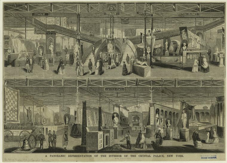 Busts, tapestries, machinery, weapons and various finery! A couple illustrations of the different divisions. Just rooms and rooms of items! Courtesy New York Public Library