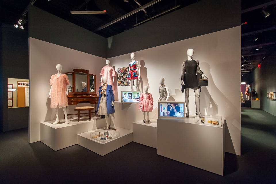 The frills and frocks of Mad Men, displayed at the Museum of the Moving Image.