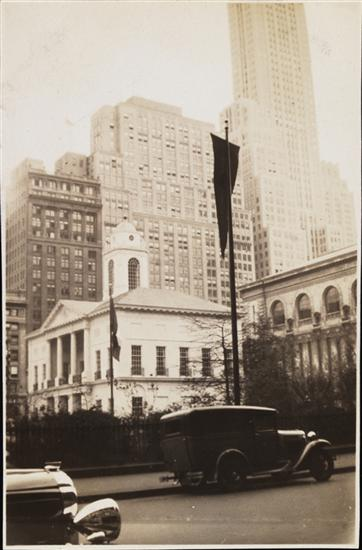 Bryant Park's Federal Hall, May 1932. Courtesy Museum of the City of New York