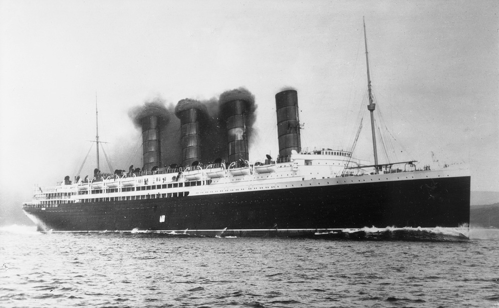 The Lusitania on one of its early voyages, 1906, courtesy Royal Museum Greenwich