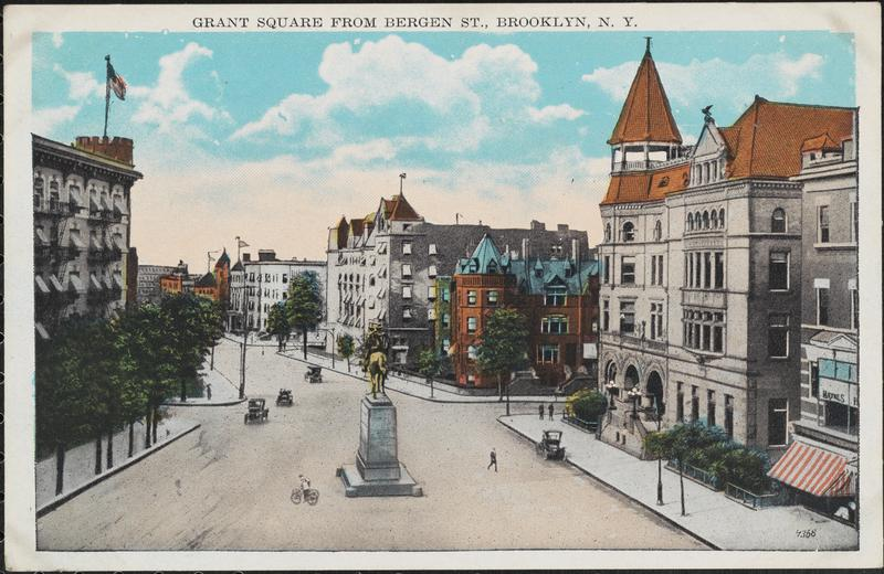 Grant Square from Bergen Street, in the neighborhood of Crown Heights (Picture courtesy the Museum of the City of New York)