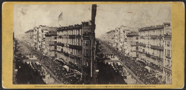 Funeral of President Lincoln in New-York, April 25th, 1865. (Courtesy of New York Public LIbrary)