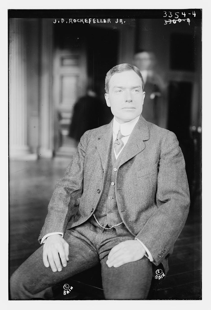 JD Rockefeller Jr. in the early 1910s, courtesy Library of Congress
