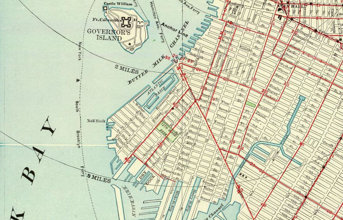 red hook brooklyn map H P Lovecraft S Very Bizarre Hatred Of Red Hook And Brooklyn red hook brooklyn map