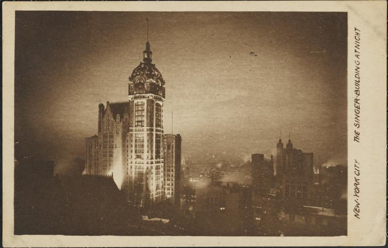 The Singer Building, 1911. courtesy Museum of the City of New York